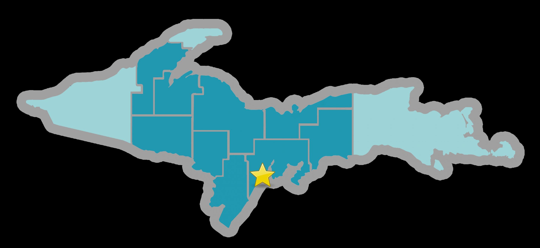 Escanaba location map