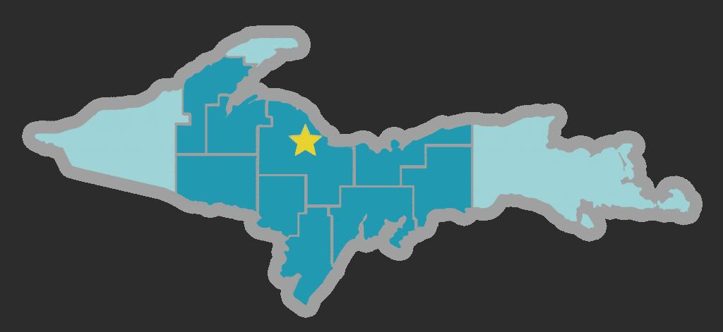 UP map - Negaunee-Ishpeming